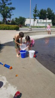 Teamwork makes the dream work... or fills the bucket faster!