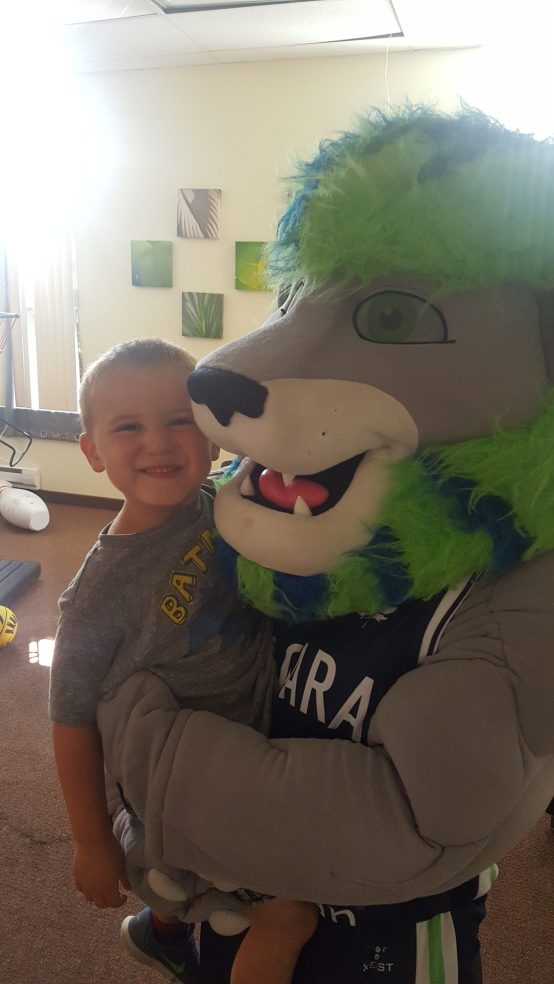 Camp is about making new friends- even furry ones!