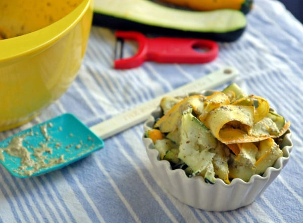 Zucchini and Summer Squash Pesto Salad