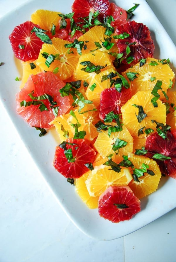 Basil Citrus Salad with Balsamic Jam Dressing Heart of a