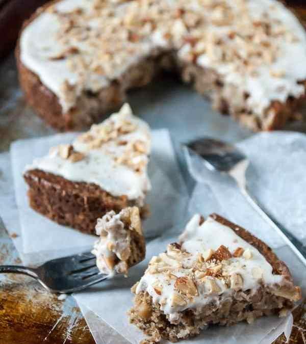 Apple Spice Cake with Coconut Cream Vegan Frosting