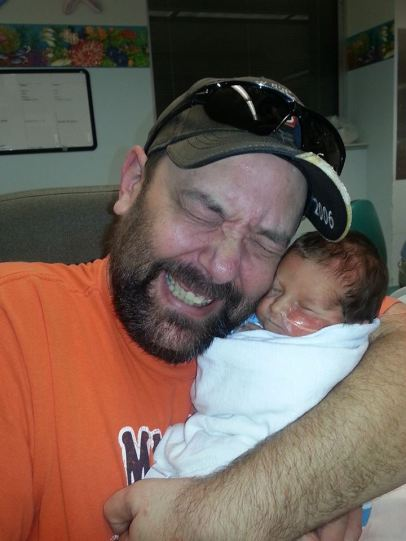 Greg with baby