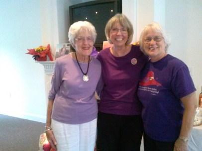 l to r, Dora Pryor, Carol Rafferty, and Linda McLaughlin