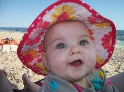Katy loves the beach