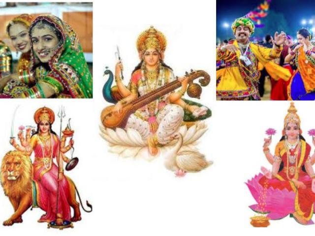 fête de Navratri dans le Gujarat avec ses couleurs Ayurveda