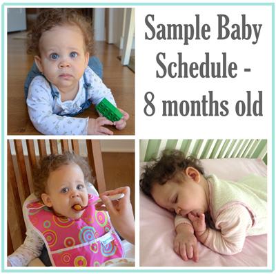 Sample Baby Schedule - 8 Months Old - Heart of Deborah