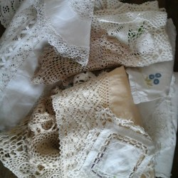 Lots of lovely lace and linen and crochet!