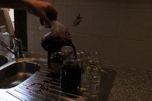 Filling the jars