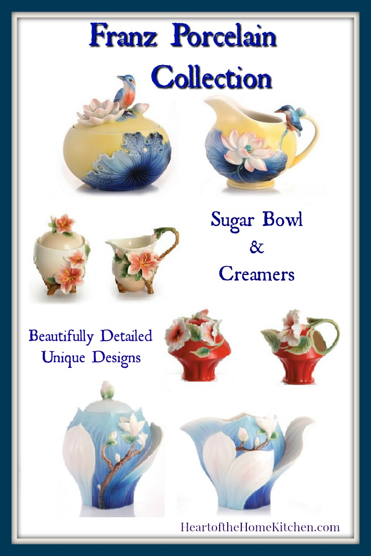 Franz Sugar Bowls and Creamer Sets