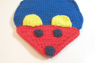 Crocheted Mouse Potholder hot pad