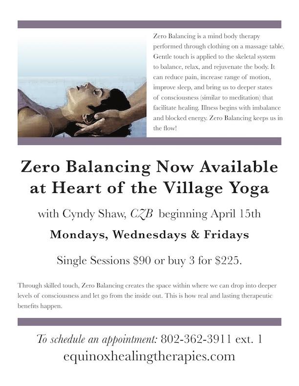 Heart Of The Village Yoga : heart, village, EHThovflyer, Heart, Village
