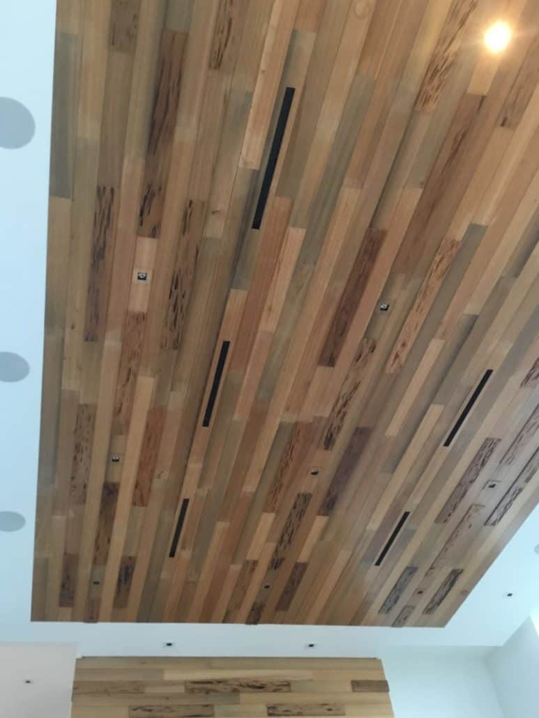 Pecky Cypress Wood Ceiling