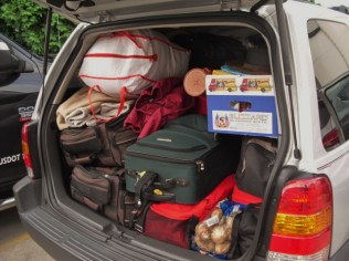 packed car-back