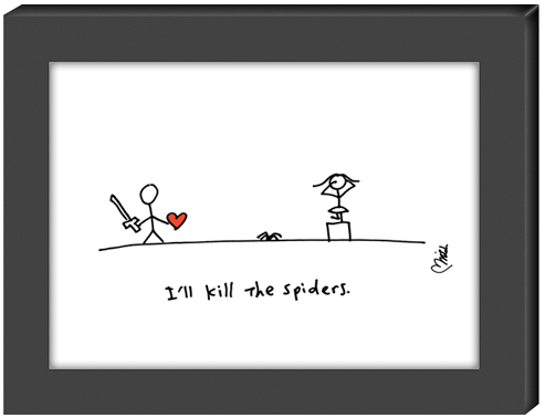 I'll Kill The Spiders Greeting Card By Hearts And All