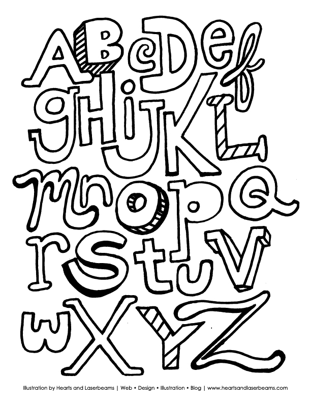 The ABC Letters: Free Printable Alphabet Coloring Book Page