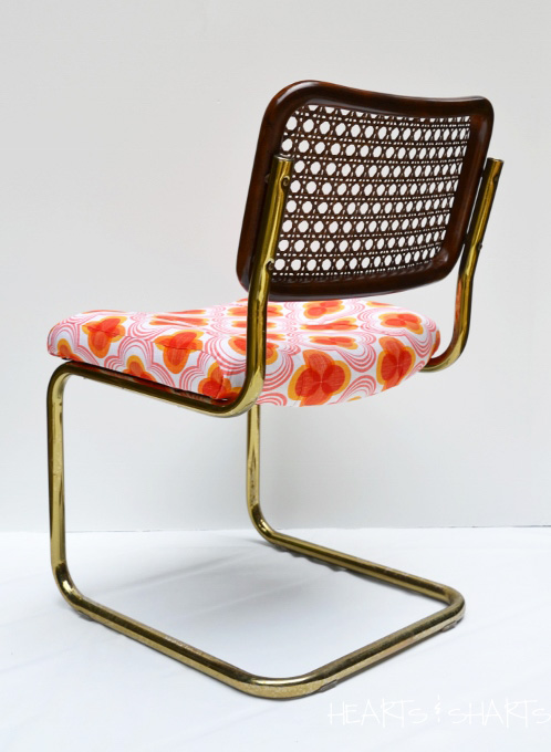 how to replace cane back chair with fabric bear shop furniture refurb: reupholstered cesca style | hearts and sharts