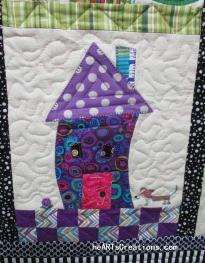 Wonky House #2 Purple