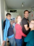 Leonie's birthday brunch. We aren't this blurry in real life, promise!