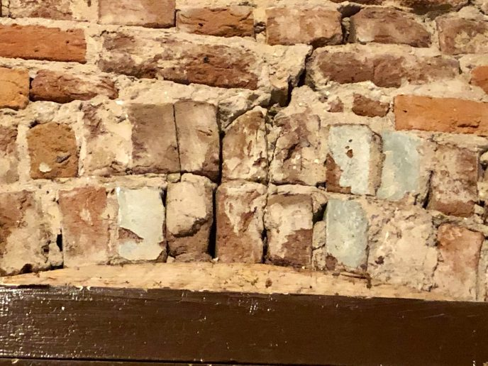 Look, some of the bricks have glazing on them.