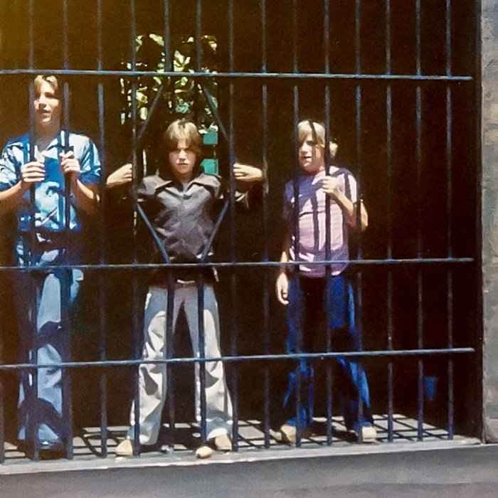 Ted, Chad, & Tony (left to right) at San Diego zoo 1979