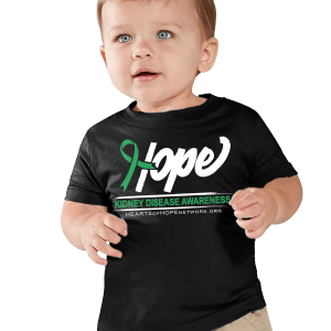 Hope Ribbon Kidney Disease Awareness Infant Shirt Mockup