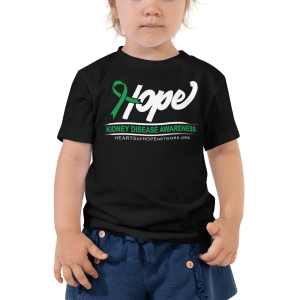 hope ribbon kidney disease awareness toddler shirt