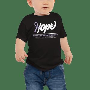Hope Ribbon National Cancer Survivors Baby Shirt