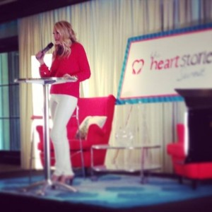 Crystal Gornto speaking at HeartStories Summit