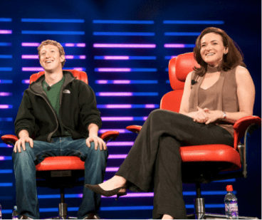 Sheryl Sandberg and Mark Zuckerburg