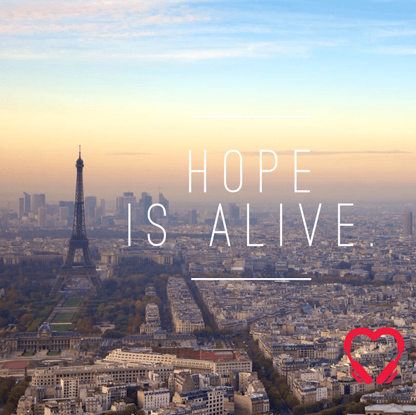 Hope is alive. HeartStories Paris