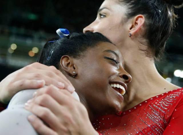 Rio Olympics Women Simone & Aly ~ Dmitri Lovetsky AP Photo