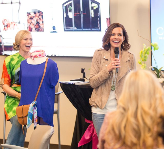 Crystal Gornto and Alison Lumbatis Get your pretty on heartstories GNO girls night out Frisco Texas