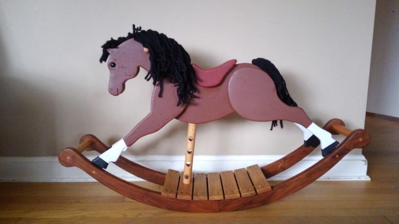 racer rocking horse bay with white socks