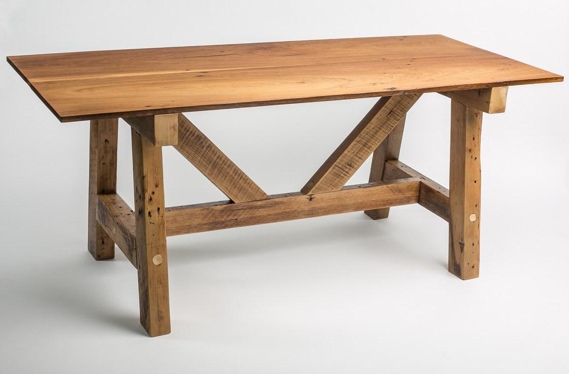 Poplar Trestle Dinner Table