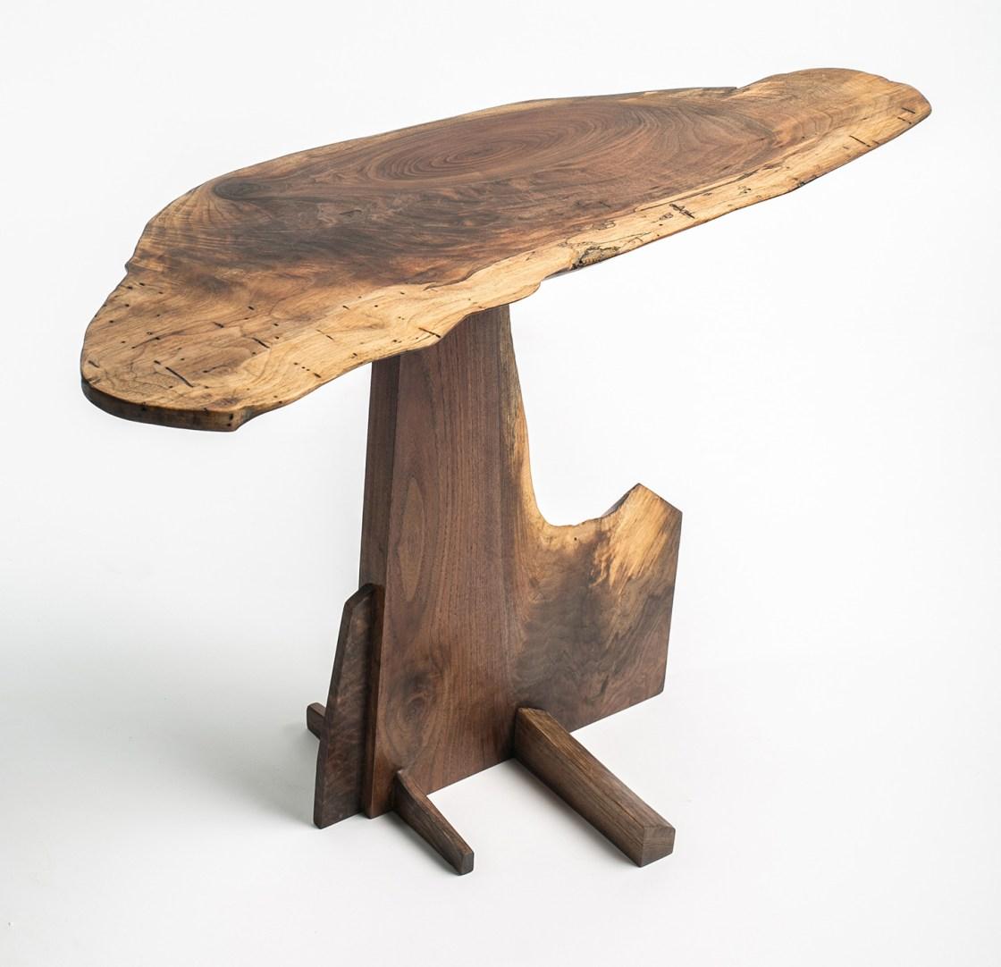 Walnut Burl End Table