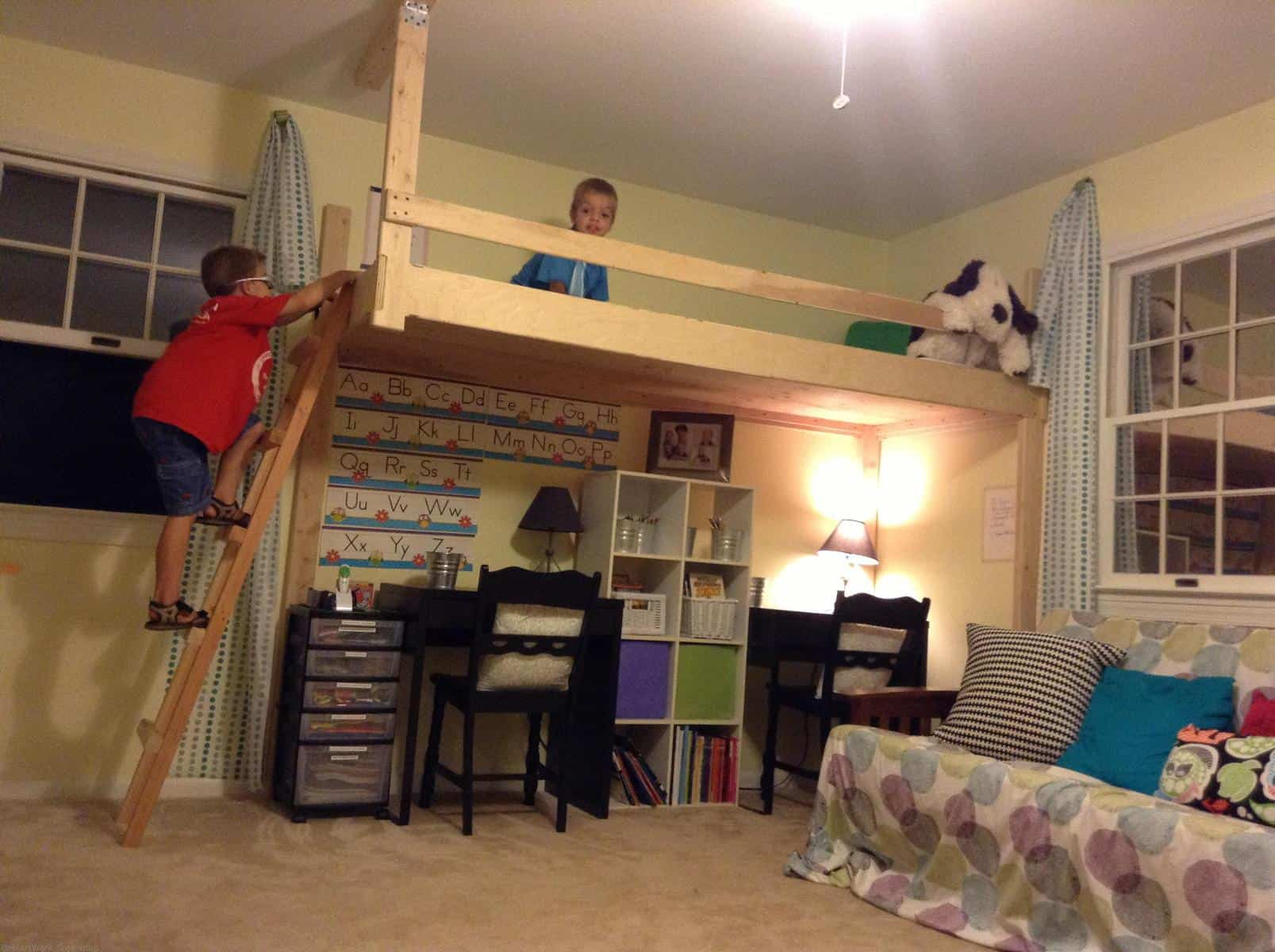 Meet Up In the Loft Home Office  Playroom Makeover