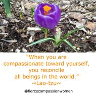 Compassion toward self