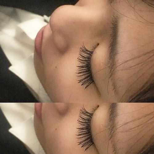 ..3D 70束 ♡.0.07mmの細い毛を自まつ毛1本に対して3本付けています◎.自まつ毛が少ないけど、ボリュームを出したい方におすすめです♪.#HEARTY #eyesalonpro#eyelash #3d #ボリュームラッシュ #高崎美容室 #トータルビューティーサロン