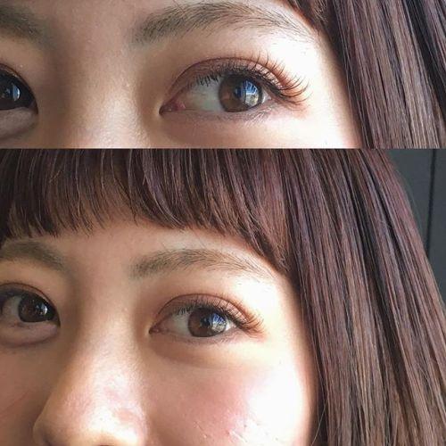 ..mocha ️ × apricot brown系のcolor人気です.#HEARTY #eyelash#cカール #マツエク