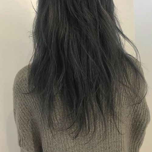 hair ... TOMMY ︎透け透けのash gray @hearty_tommy #tommy_hair #hearty #hearty abond#abond#高崎#高崎美容室