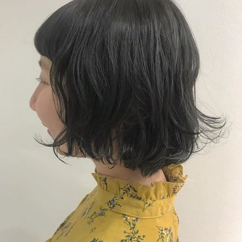 担当シオリ @shiori_tomii 黒染めはやだけど暗くしなきゃいけない方にはダークグレーでトーンダウン #hearty#shiori_hair #ダークグレー#高崎美容室