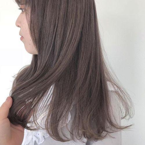 担当シオリ @shiori_tomii ラベンダーベージュ#hearty#shiori_hair #ラベンダーベージュ#高崎美容室
