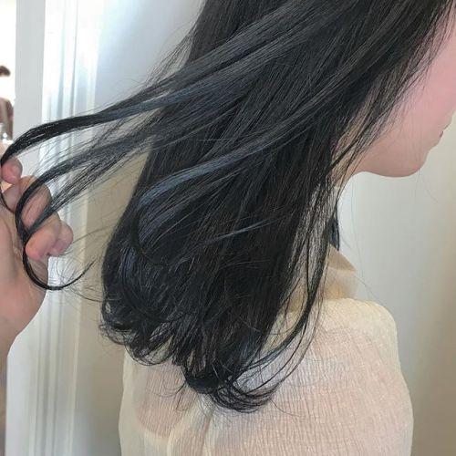 担当シオリ @shiori_tomii ブルージュcolor🦕 #hearty#shiori_hair #ブルージュ#高崎美容室