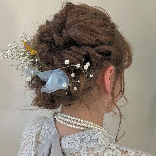 担当:ミヤハラ @hearty_miyahara 早朝setのお客様#hearty#hairset#hairarrange #高崎美容室