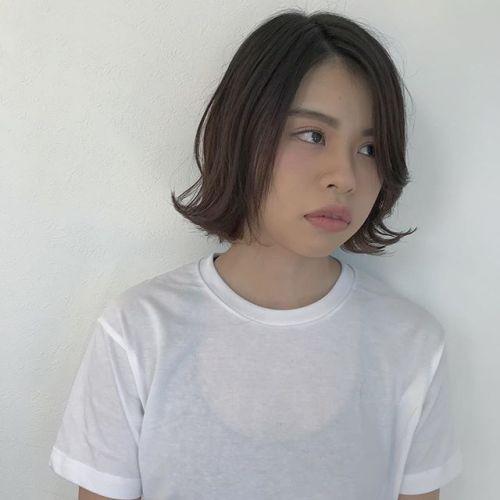 担当 @sugita.ryosuke 前髪長めのクールな外ハネボブ#高崎 #高崎美容室 #hearty #外ハネ#ボブ