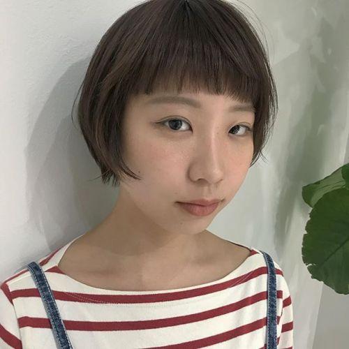 担当シオリ @shiori_tomii short hair耳にかけても大人っぽくなってかわいい♡いつもありがとう♡#hearty#shiori_hair #shorthair #ショートヘア#高崎美容室