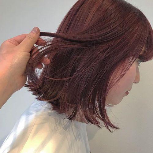 担当シオリ @shiori_tomii red+pink#hearty#shiori_hair #ストロベリーカラー#高崎美容室