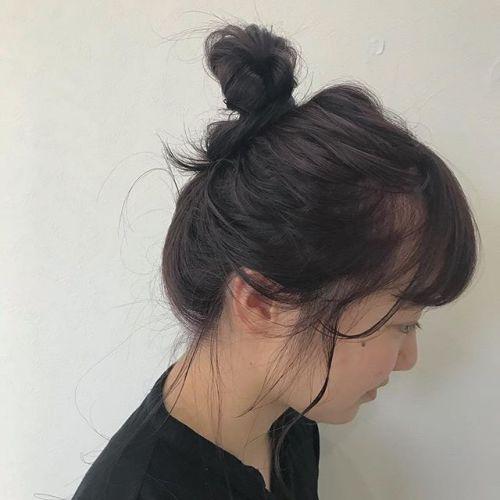 担当シオリ @shiori_tomii ピンクモーヴcolor#hearty#shiori_hair #ピンクカラー #ピンクモーヴ#お団子#お団子アレンジ#高崎美容室#高崎