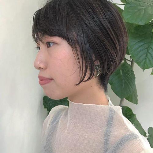 担当シオリ @shiori_tomii 伸ばしていく用にかるめショートボブに🤸♀️大人かわいいです!#hearty#shiori_hair #shorthair #ショートヘア#高崎#高崎美容室