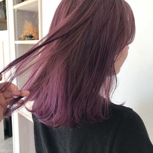 担当シオリ @shiori_tomii pink lavender#hearty#shiori_hair #lavender#ラベンダーカラー #ハイトーンカラー#高崎美容室#高崎